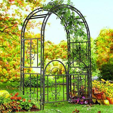 Decorative Garden Arbor Trellis with Gate