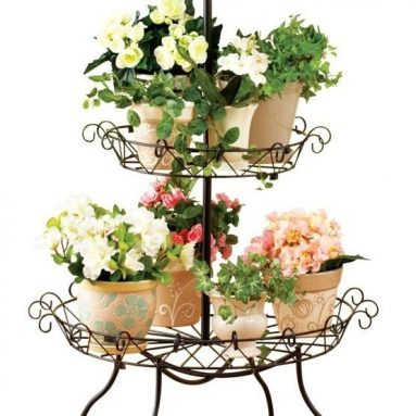 Elegant Scroll 3-Tier Plant Stand