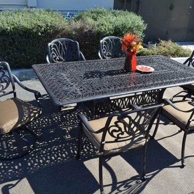 Elizabeth Outdoor Patio 7 pc Dining Set
