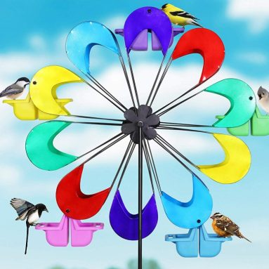 Exhart Spinning Ferris Wheel Bird Feeder Moves