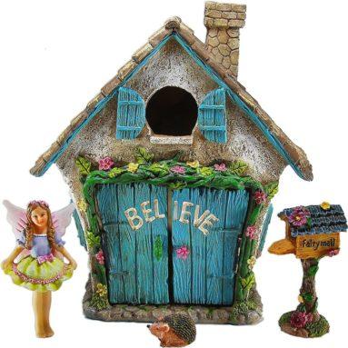 Fairy Garden Believe House Miniature Set of 4