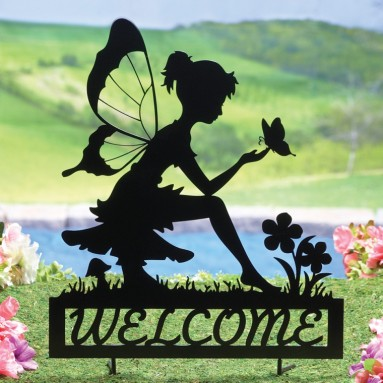 Fairy Welcome Garden Shadow Stake
