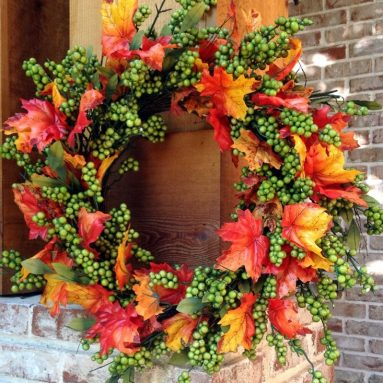 Flora Decor Green Apple Fall Wreath