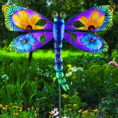 Floral Dragonfly Stake