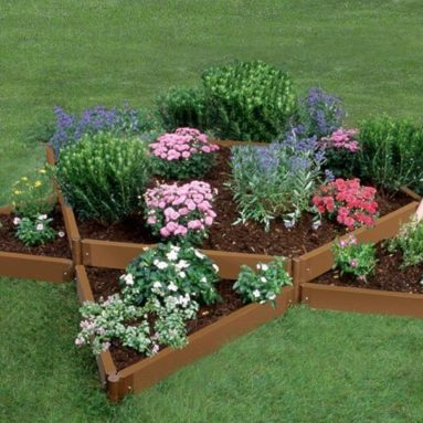 Frame It All Two Inch Series Composite Star Raised Garden Bed