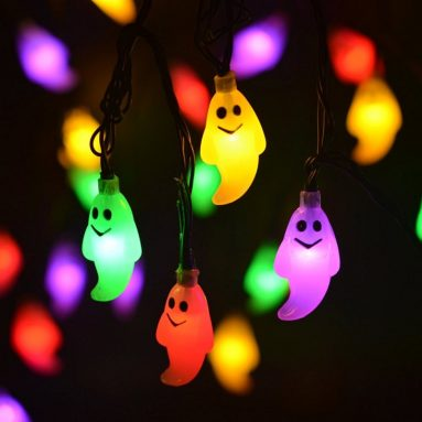 Ghost Solar String Lights Outdoor Halloween Decorations