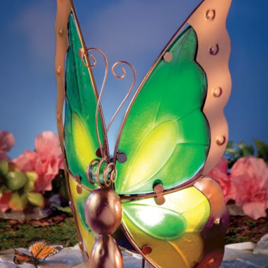 Glass Butterfly Solar Light Outdoor Decoration