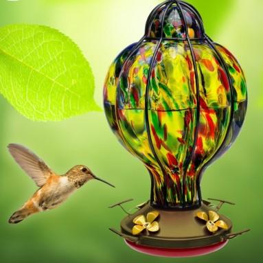 HUMMINGBIRD FEEDER with Perch