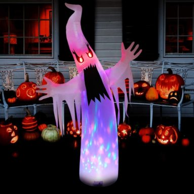 Halloween Decorations 8ft Inflatable Ghost Decor Built-in LED Lights