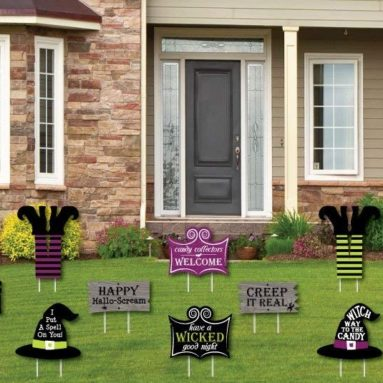 Witch Lawn Decorations – Outdoor Halloween Yard Decorations