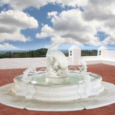 Henri Studio Grande Millennia Dolphin Fountain With Base