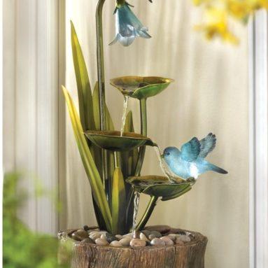 Hummingbird Haven Home Garden Decor Water Fountain