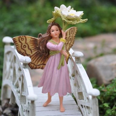 Miniature Fairy Garden Windflower Fairy