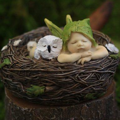 Miniature Fairy Garden and Terrarium Sleeping Fairy Baby