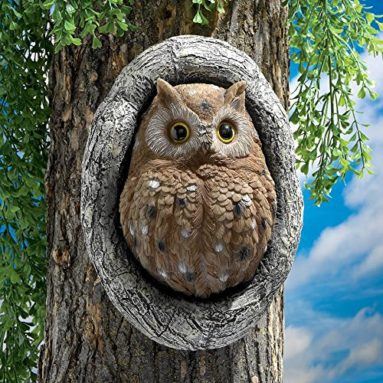 Octavius Knothole Owl Tree Sculpture: Set Two