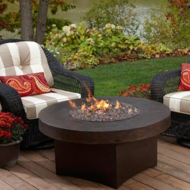 Oriflamme Savanna Stone Gas Fire Pit Table