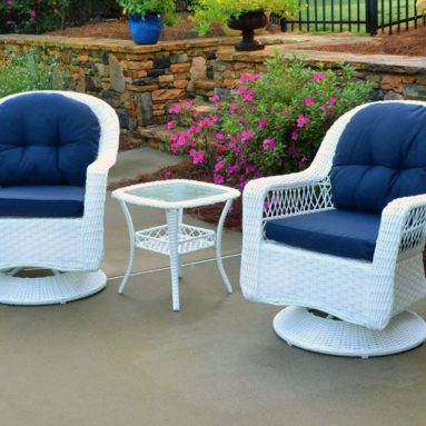 Outdoor Biloxi 3 Piece Swivel Patio Bistro Table Set