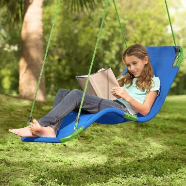 Outdoor Hanging Chaise Lounge Chair Tree Swing