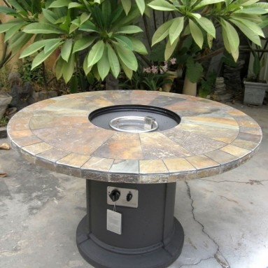 Outdoor Natural Slate Fire Pit Outdoor Dining Table