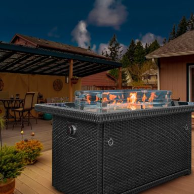 Outdoor Propane Gas Fire Pit Table
