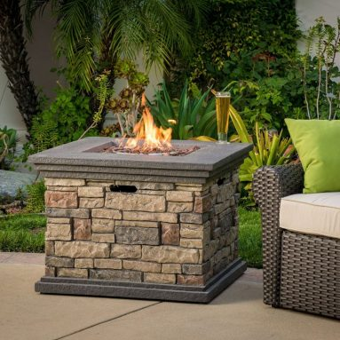 Outdoor Square Liquid Propane Fire Pit