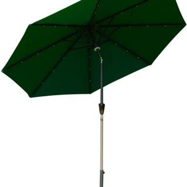 Outsunny 9′ Solar LED Market Patio Umbrella wBluetooth