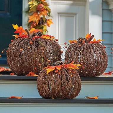 Pumpkins Indoor Outdoor Fall Porch Decoration Autumn