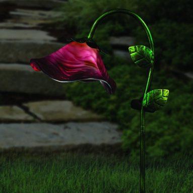 Regal Art And Gift Solar Bell Flower Stake