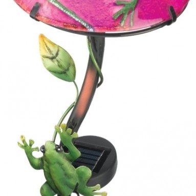 Regal Art and Gift Solar Mushroom Stake Frog