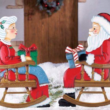 Rocking Chair Mr. & Mrs. Santa Claus, Mrs. Claus