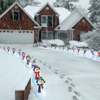 Snowmen Christmas Pathway Markers
