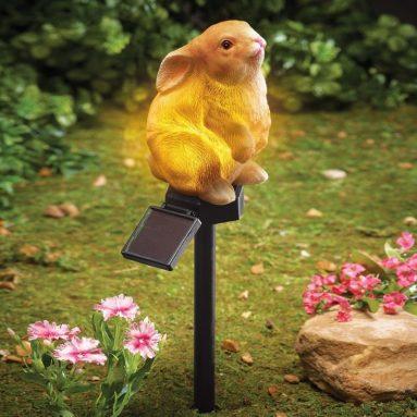 Solar Bunny Garden Stake