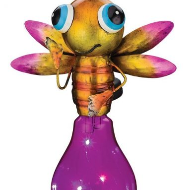 Solar LED Pink And Yellow Firefly Lightning Bug Lantern