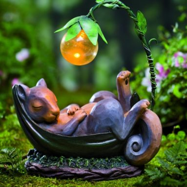 Solar Lighted Daydreaming Animal Sculpture
