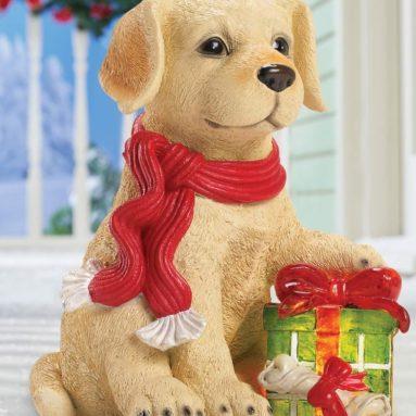 Solar Lighted Puppy