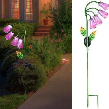 Solar Lights Outdoor Decor Garden Flower Lights Solar