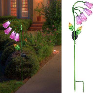 Solar Lights Outdoor Decor Garden Flower Lights Solar