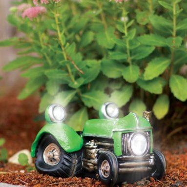Solar Powered Vintage Tractor Vehicle Garden Decor
