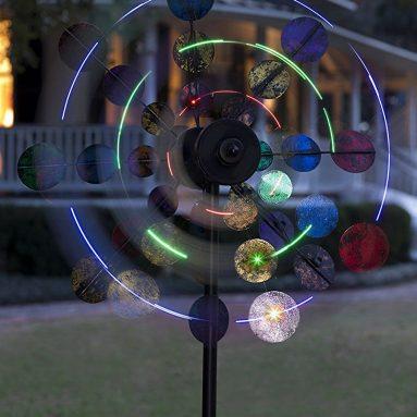 Solar Sparkler Wind Spinner