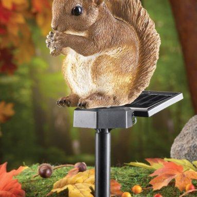 Solar Squirrel Garden Stake