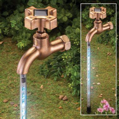 Solar Water Faucet Garden Stake