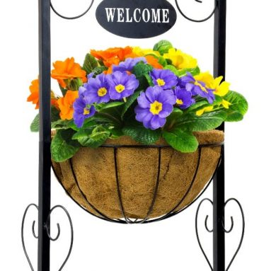 Sorbus Welcome Planter Basket Stand