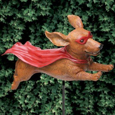 Super Wiener Dog Garden Stake Sculpture