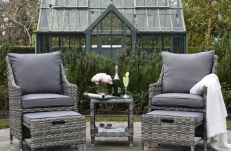Vallauris Outdoor 5-Piece Set – Gray Wicker