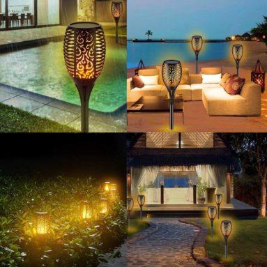 Waterproof Flickering Flame Torch Lights Outdoor Solar Spotlights