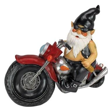 the Biker Gnome Statue